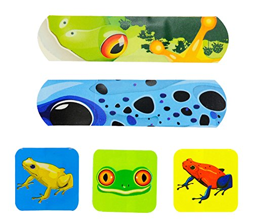 [Frog] 20-Count First Aid Dressings Waterproof Band Aid Cute Adhesive Bandages by Black Temptation
