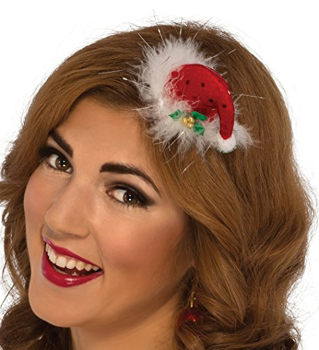 Rubie's Women's Clausplay Sequin Mini Hat, Red, One Size -