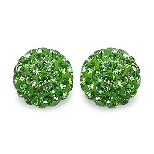 1,5en cristal Boucles d'oreilles en argent 1,2Grammes