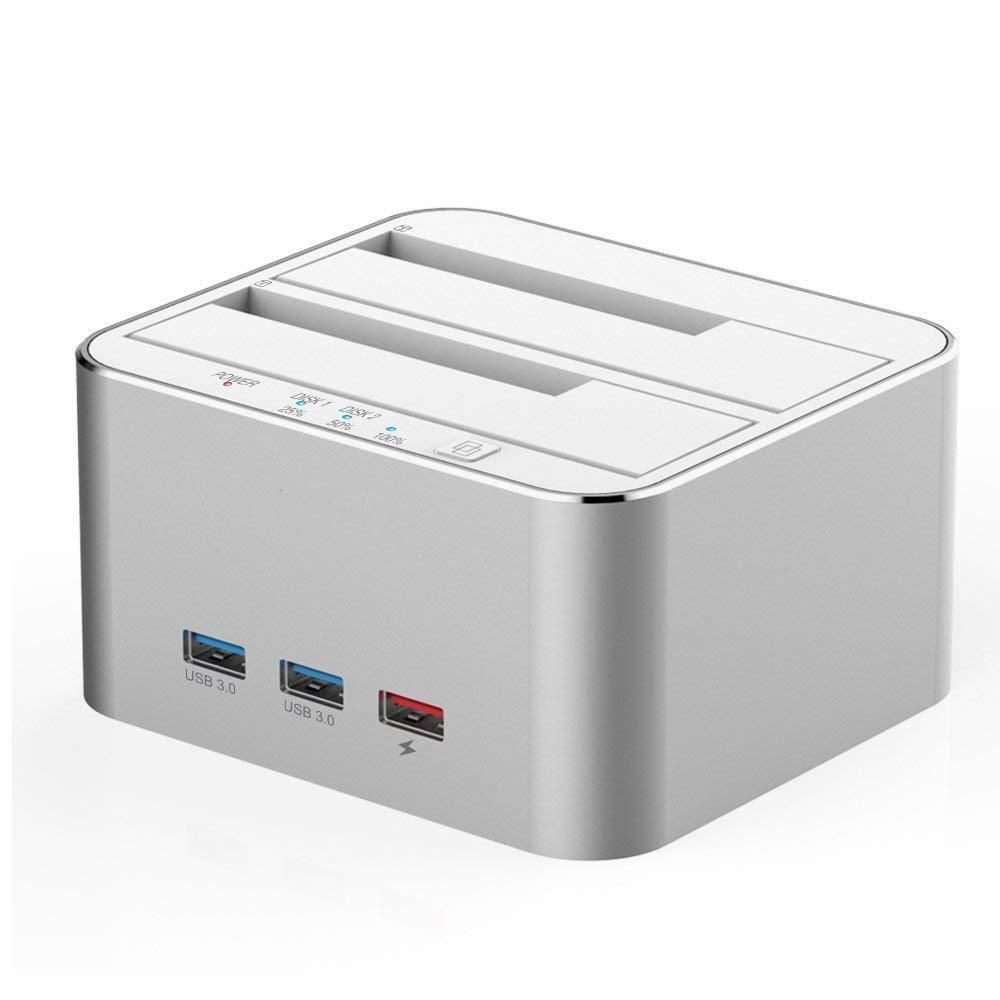 WULAU Estación de Acoplamiento de Disco Duro Externo USB 3.0 3 ...