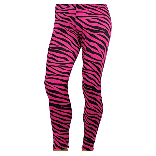 Largemouth Men's 80's Heavy Metal Pants Zebra Neon Pink (Small)]()