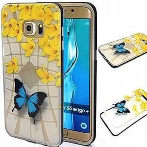 Mariposa patrón TPU + PC Protector Marco antigolpes Medidas Satisfacción De Caso Para Samsung Galaxia S5/S6/S6ndentro/S6y