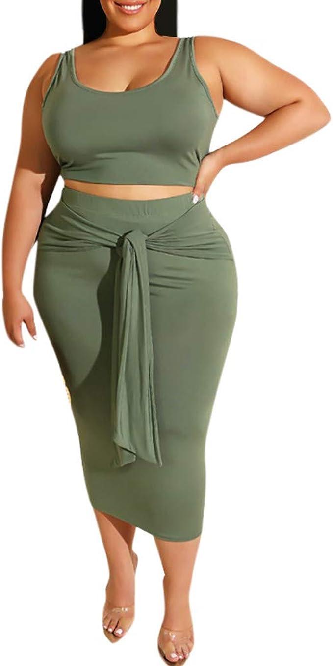 Wekdeg - Conjunto de Camiseta y Falda para Mujer (2 Piezas, sin ...