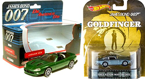 007 Jaguar XKR & Hot Wheels Aston Martin DB5 Goldfinger James Bond Car SET Jaguar Xkr James Bond