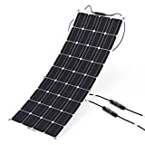 100W 18V 12V Solar Panel Kit Charger Monocrystalline Lightweight Flexible with MC4 Connector Charging for RV Boat Cabin Tent Car-Compatibility with 18V and Below Devices