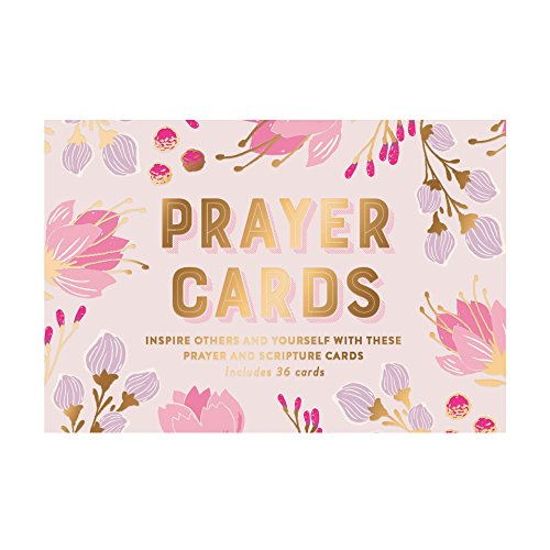 Eccolo Lavender Today's Prayer & Scripture Cards, 36 Cards, Gift Boxed, 4x6 Inch