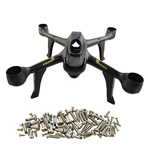 Fytoo Accessories for hubsan H501S H501A H501C H501M H501S H501W H501S Pro Quadcopter Aircraft Spare Parts 4pcs Drone Landing Gear+1set Screw pack +1pcs Drone Shell (Black) by Fytoo