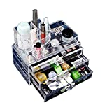 RunHigh Cosmetic Clean Desktop Transparent Acrylic Makeup organizer Jewelry Drawers