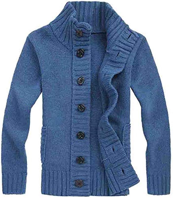 Jakflyzel męski sweter cardigan Slim kolorowy pogrubiony sweter z dzianiny ciepły koreański sweter dzianinowy towar dzianinowy: Odzież