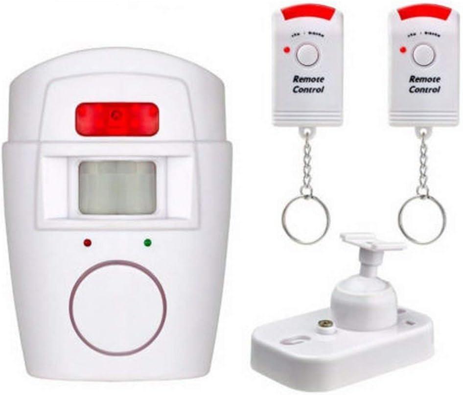 Sensor de Movimiento inalámbrico Alarma Detector de Seguridad Sistema de Alerta para Exteriores con Control Remoto para el Garaje en casa