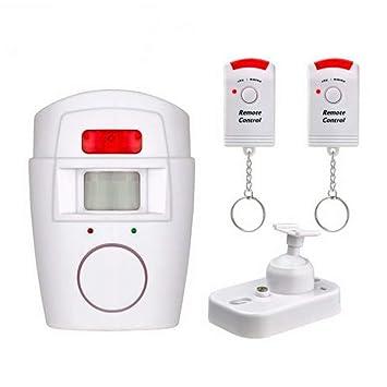 Sensor de Movimiento inalámbrico Alarma Detector de Seguridad Sistema de Alerta para Exteriores con Control Remoto