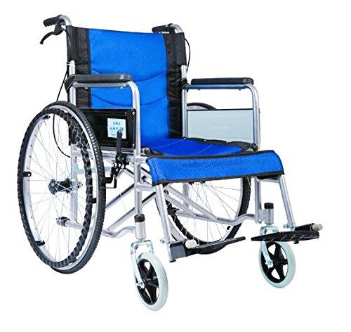 Comfy Go - Durable Lightweight Manual Handbrake Portable Medical Mobility Wheelchair (Blue) by Comfy Go