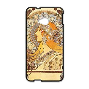 Zodiac Signs Alphonse Mucha HTC One M7 Cell Phone Case Black as a gift A4637037