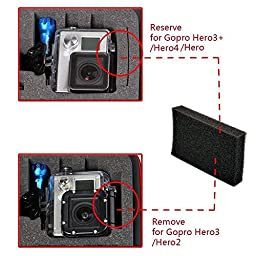 Smatree GA700-2 with ABS materials Floaty/ Water-Resist Hard Case for Gopro Hero 5,4, 3+, 3, 2,1-(Camera and Accessories NOT included)