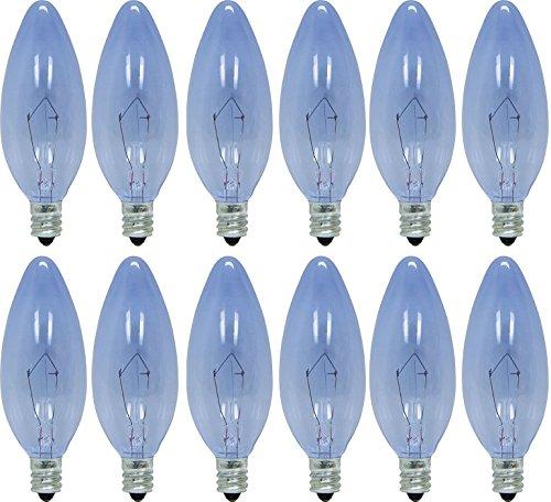 - GE Lighting 74036 60-Watt 455-Lumen Blunt Tip Light Bulb with Candelabra Base, 24-Pack