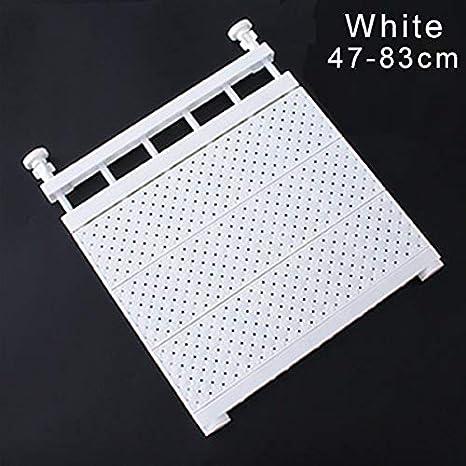 Scaffale Estensibile per Armadio di Supporto fissato al Muro di mensola di stoccaggio Regolabile per Guardaroba Alextry 47-83cm Bianco