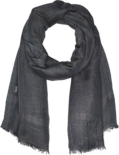 Love Quotes Women's Linen Eyelash Scarf Charcoal 1 One (Eyelash Scarf)