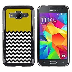 - Chevron Pattern V shapes - - Monedero pared Design Premium cuero del tir¨®n magn¨¦tico delgado del caso de la cubierta pata de ca FOR Samsung Galaxy Core Prime G360 G3608 G3606 Funny House