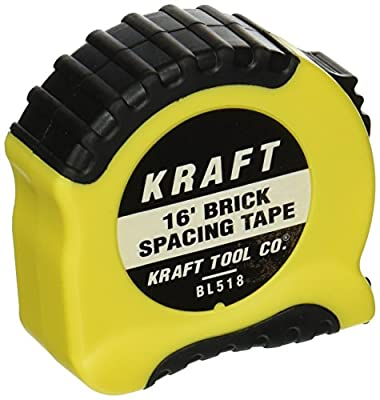 Mason's Brick Spacing Tape Measure 16'