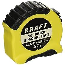 Kraft Tool Mason's Brick Spacing Tape Measure 16-Feet