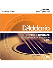 Daddario Ej15 Akustik Gitar Tel Seti, Phosphor-Bronze, Extra Lig