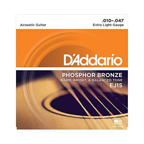 Cuerdas para guitarra acústica de bronce fosforado DAddario