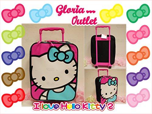 Hello Kitty Rolling Travel Luggage Bag Sanrio School ()