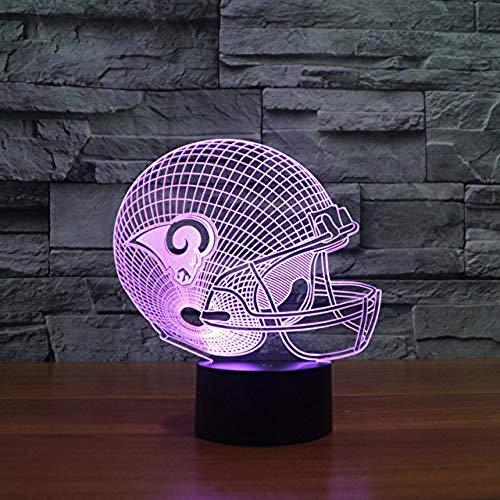 Louis Lamp Rams - Led Illuminate Light Furniture 3D St. Louis Rams Rugby Cap Helmet Model