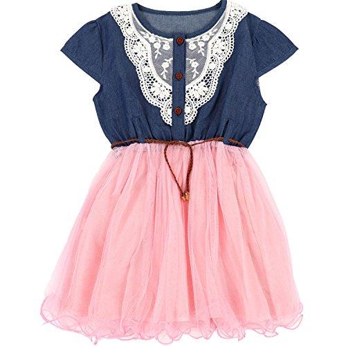Pink Denim Dress - 1
