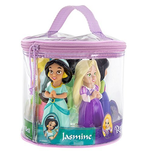 s and Fairy Squeeze Toy Set Rapunzel Mulan Jasmine Tiana Tinkerbell ()