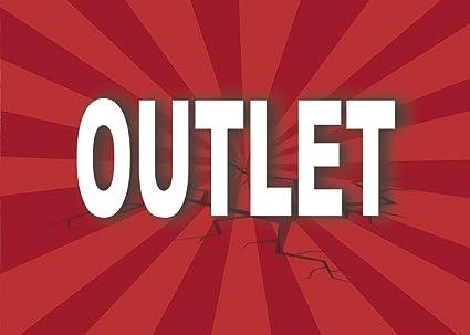 Cartel Outlet | Varias medidas 35 cm x 25 cm | Cartel ...