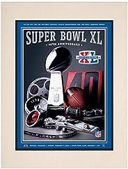 "2006 Steelers vs Seahawks 10.5"" x 14"" Matted Super Bowl XL Program - NF"