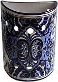 Blue Talavera Ceramic Sconce