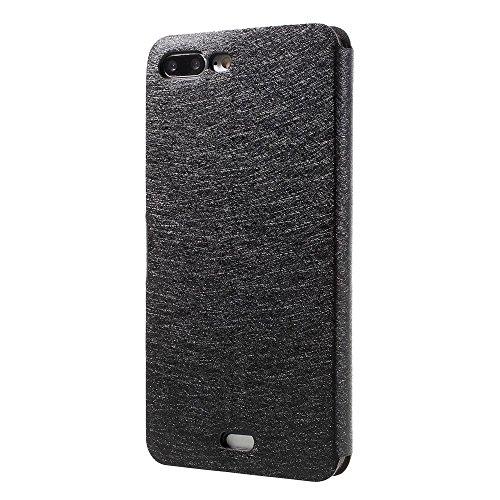 Silk Grain Leather Card Holder Tasche Hüllen Schutzhülle Case für iPhone 7 Plus - schwarz