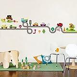 nuohuilekeji dibujos animados coche carretera patrón extraíble pegatinas de pared DIY arte calcomanía decoración de la habitación de los niños, Multicolor, 3#