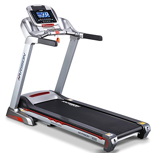 Treadmills for RunningElectric Folding Motorized Power Portable Gym Fitness MachineAutomation 0-15% InclineEasy Handrail Controls & Preset Button SpeedsSoft Drop System by HARISON