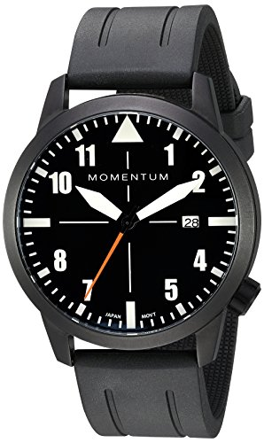 Men's Sports Watch | Fieldwalker Automatic Leather Adventure Watch by Momentum | IP Black Stainless Steel Watches for Men | Analog Watch with Automatic Japanese Movement | Water Resistant (200M/660FT) Classic Watch - Black / 1M-SN94BS1B