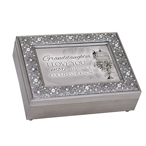 Cottage Garden Granddaughter I Love More Filigree Jewel Jewelry Music Box Plays Edelweiss