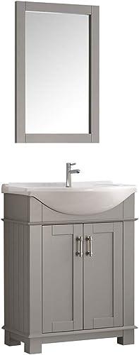 Fresca Hartford 30 Gray Traditional Bathroom Vanity