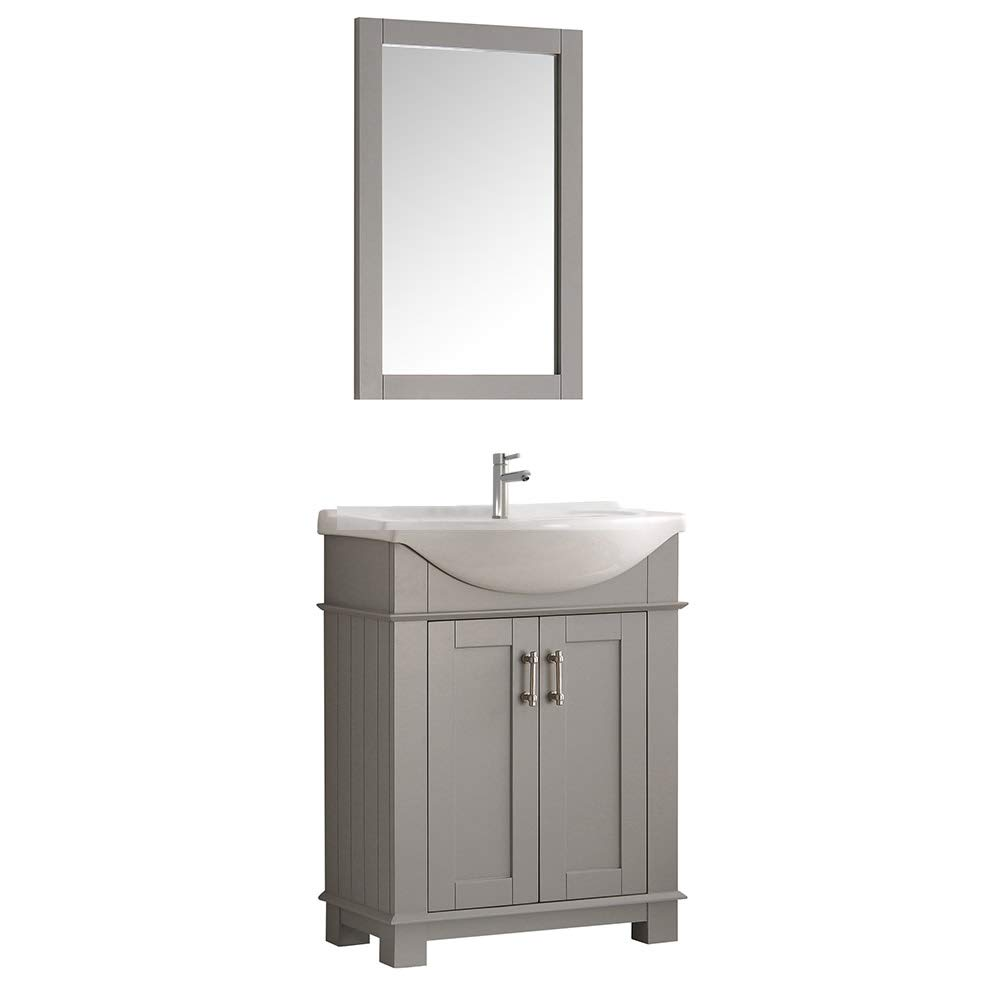Fresca Hartford 30 Gray Traditional Bathroom Vanity