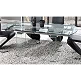 Global Furniture D2160DT Dining Table, Clear Glass