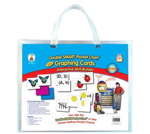 DOUBLE SMART POCKET CHART GRAPHING CARDS POCKET CHARTS - PO ()