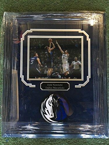 Custom Framed Dirk Nowitzki Dallas Mavericks Hologram Photo With Dallas Mavericks Logo - Dallas Custom Mavericks Jersey