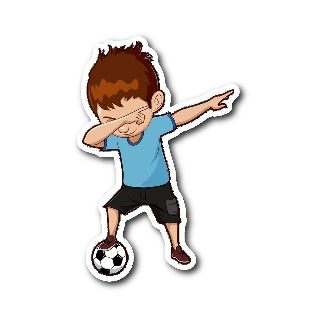 Amazon.com: Weezag Soccer Boy Sticker Car Bumper, Dabbing Gifts Soccer  Lovers Football Players: Automotive