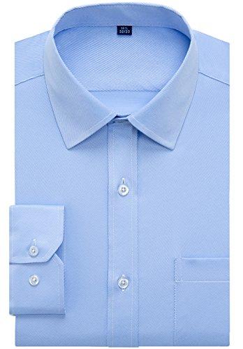 Alimens & Gentle Design Solid Color Regular Fit Long Sleeve Dress Shirts by Alimens & Gentle