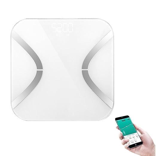 Escala de grasa, Stoga Digital Analizador de grasa corporal Balanza de baño Syncyour Datos de peso con el teléfono: Amazon.es: Salud y cuidado personal