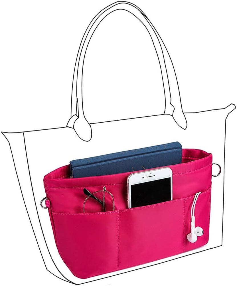 Tote Handbag Insert with Zipper VANCORE Purse Organizer Insert with 13 Pockets