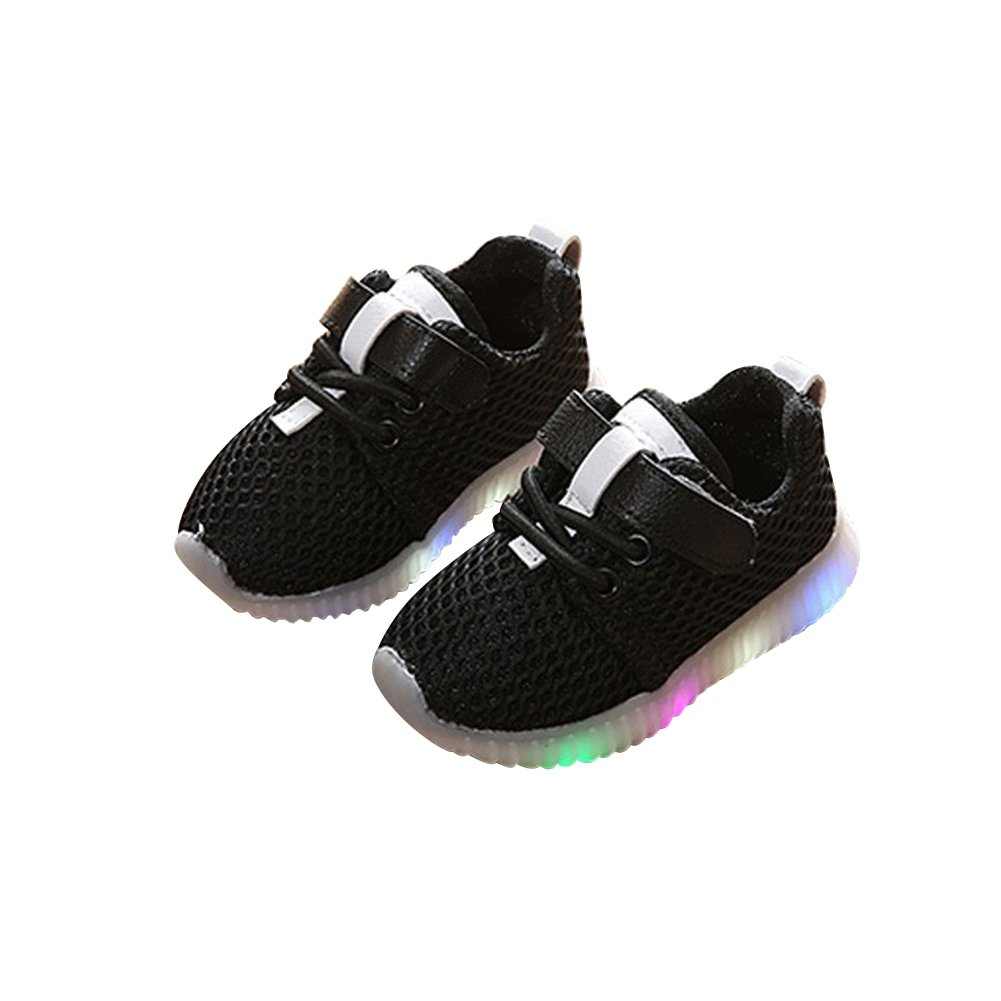 elegantstunning Baby Boys Girls Sneakers Shoes Soft Sports Shoes with LED