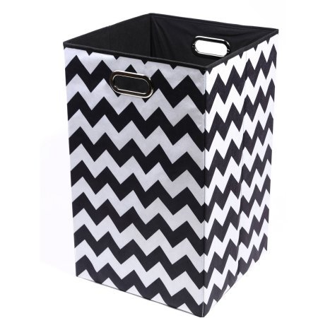 Modern Littles Bold Folding Laundry Basket | Folds - Animal Hamper Wicker