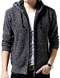 "<span class=""a-offscreen"">[Sponsored]</span>Men's Hooded Zip Knitted Cardigan Sweater"
